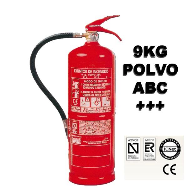 Extintor de Polvo ABC Alta Eficacia de 9 Kilo eficacia 34a 233b