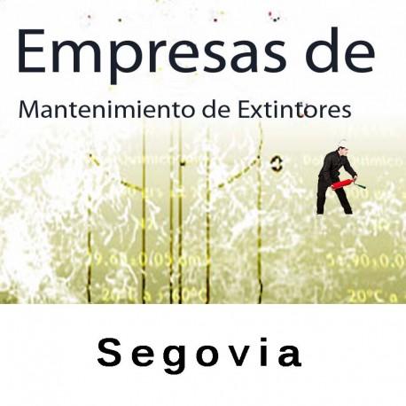 Extintores en Segovia Mantenimiento y Retimbrado