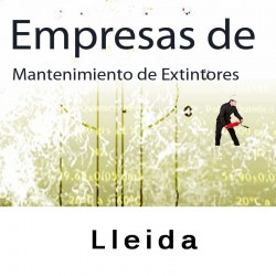 Extintores en Lleida Mantenimiento y Retimbrado