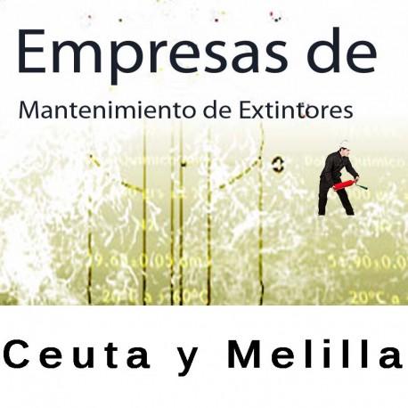 Extintores en Ceuta y Melilla Mantenimiento y Retimbrado
