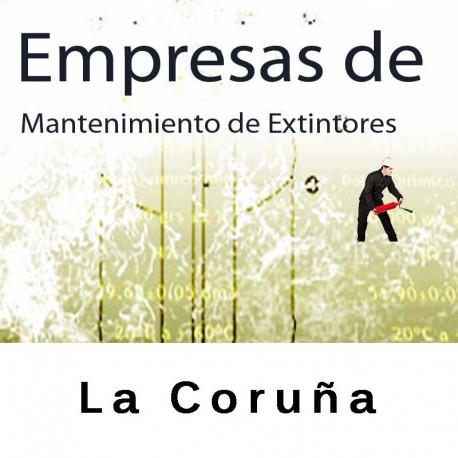 Extintores en La Coruña Mantenimiento y Retimbrado