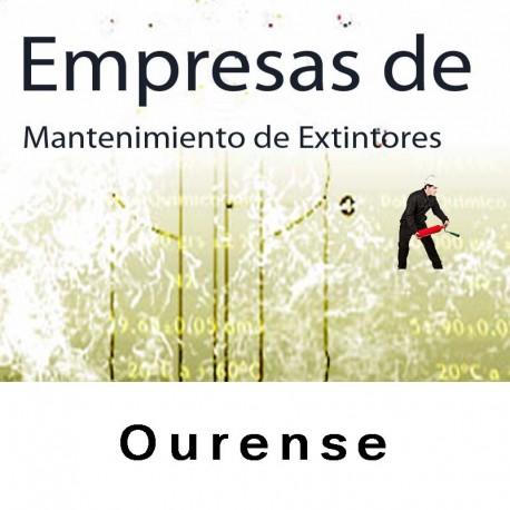 Extintores en Ourense Mantenimiento y Retimbrado