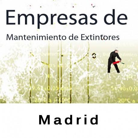 Extintores en Madrid Mantenimiento y Retimbrado