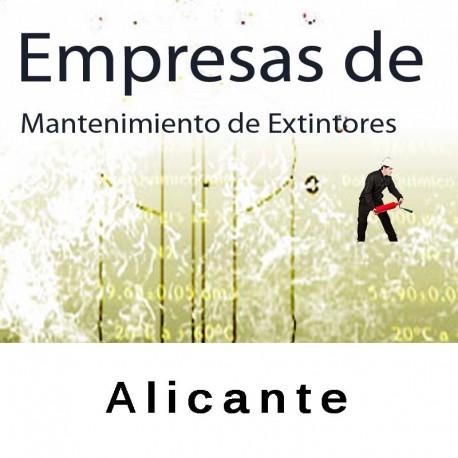 Extintores en Alicante Mantenimiento y Retimbrado