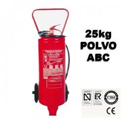 Extintor de Polvo ABC Movil 25kg