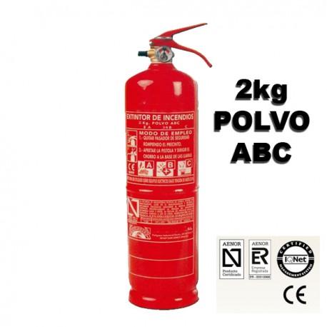 Extintor de Polvo ABC 2Kg