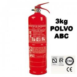 Extintor de Polvo ABC 3Kg