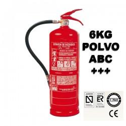 Extintor de Polvo ABC 6Kg Alta Eficacia