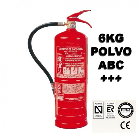 Extintor de Polvo ABC 6Kg 34A 233B