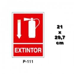 Señal de Extintor P111
