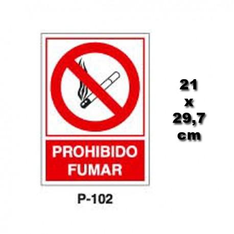 Señal Prohibido Fumar