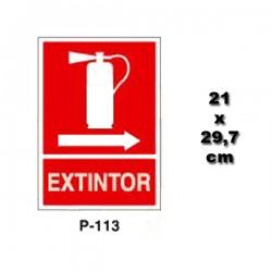 Señal de Extintor P113