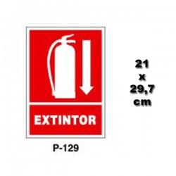 Señal de Extintor P129