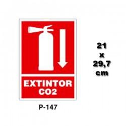 Señal de Extintor de CO2