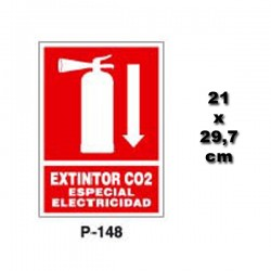 Señal de Extintor de CO2 148