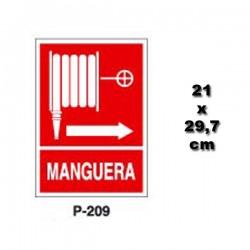 Señal de Manguera p209