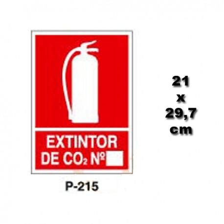 Señal de Extintor de CO2 Numero