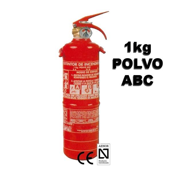 Extintor de Polvo abc 1kg Eficacia 5a 21b