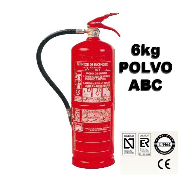 extintor de polvo abc 6kg eficacia 21a 113b